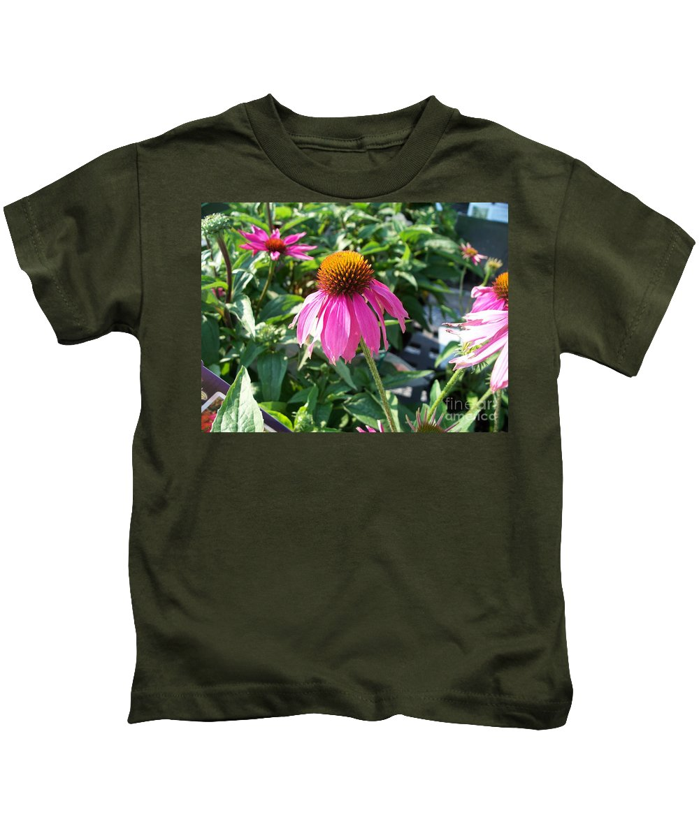 Floral Kids T-Shirt featuring the photograph Purple Flower by Eric Schiabor