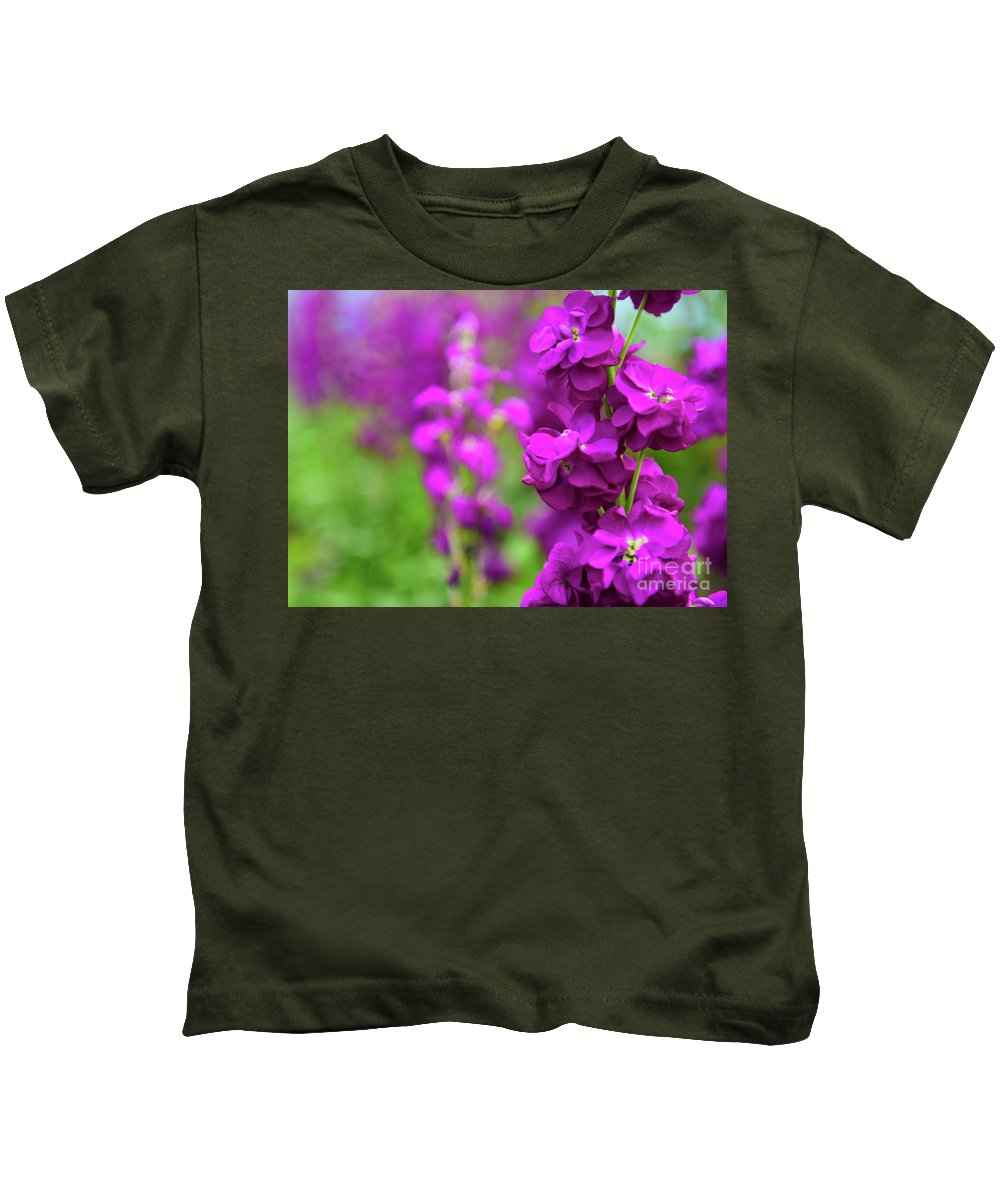 Flower Kids T-Shirt featuring the photograph Purple by Kevin Williams
