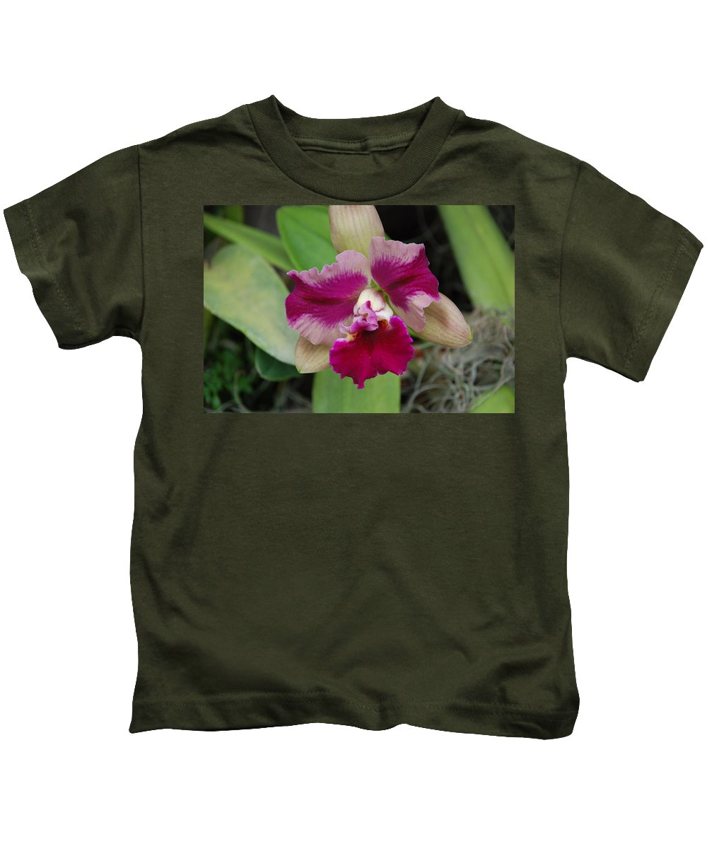 Macro Kids T-Shirt featuring the photograph Purple Orchid by Rob Hans