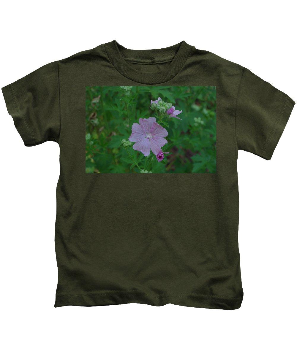 Purple Kids T-Shirt featuring the photograph Purple Wild Flower by Alice Markham