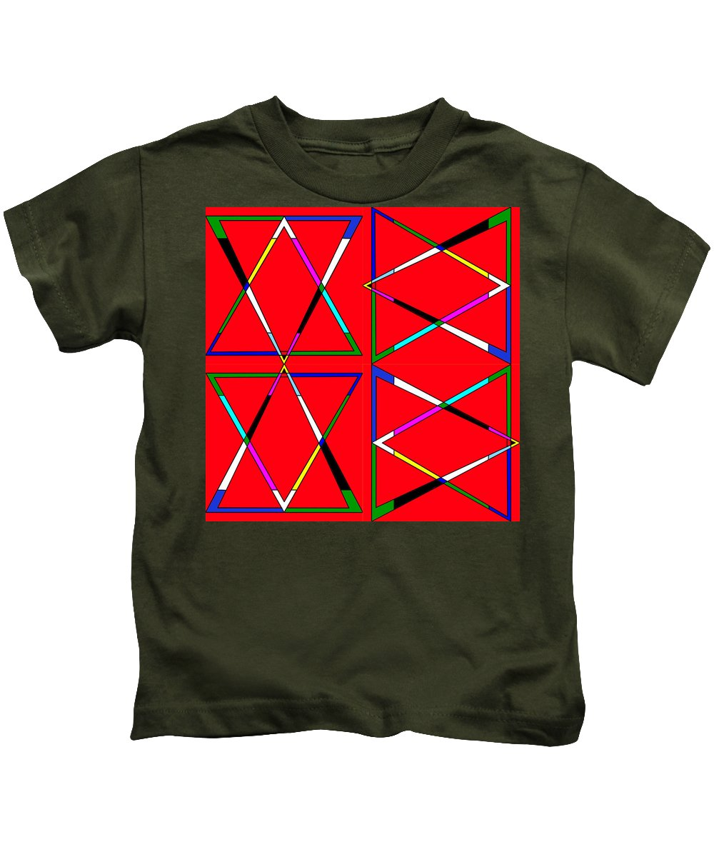 Triangle Kids T-Shirt featuring the photograph Quad Triangles Rotated by Chris Mercer