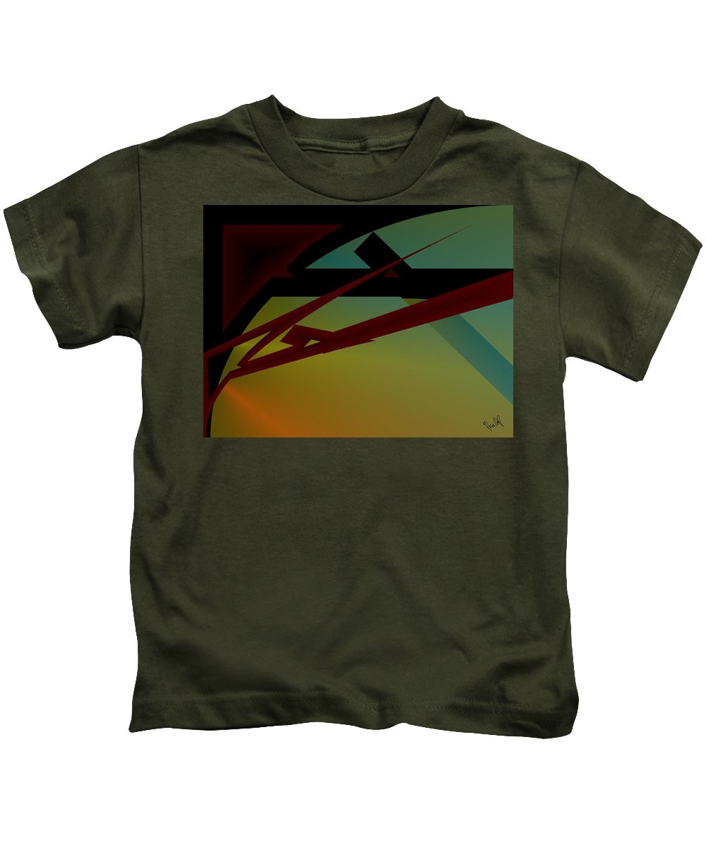 Quarter Kids T-Shirt featuring the digital art Quarter by Helmut Rottler