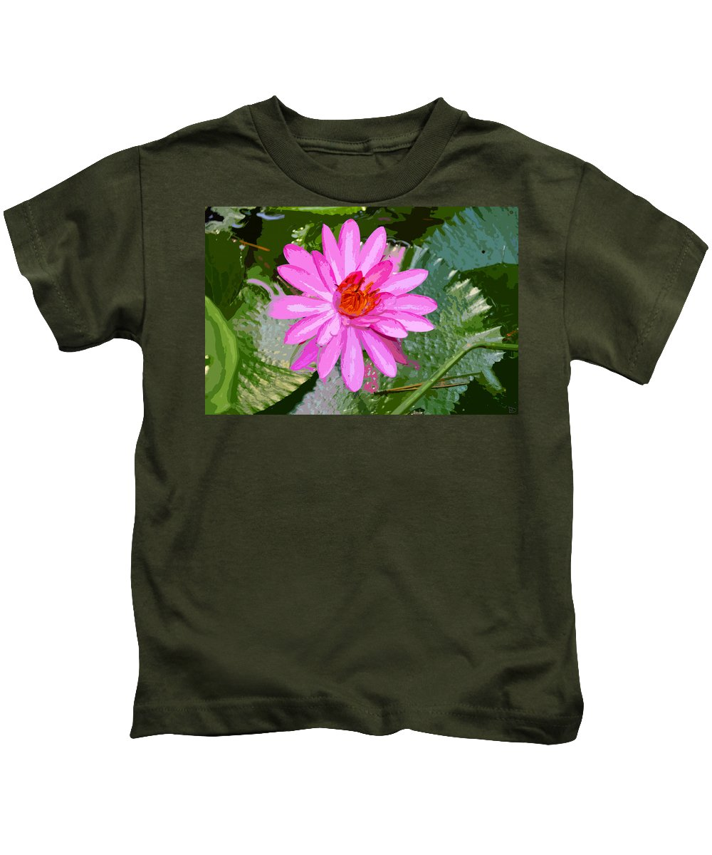 Flower Kids T-Shirt featuring the painting Radiant Pink by David Lee Thompson