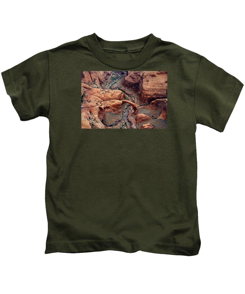 Rainbow Arch Kids T-Shirt featuring the photograph Rainbow Bridge by Martin Massari