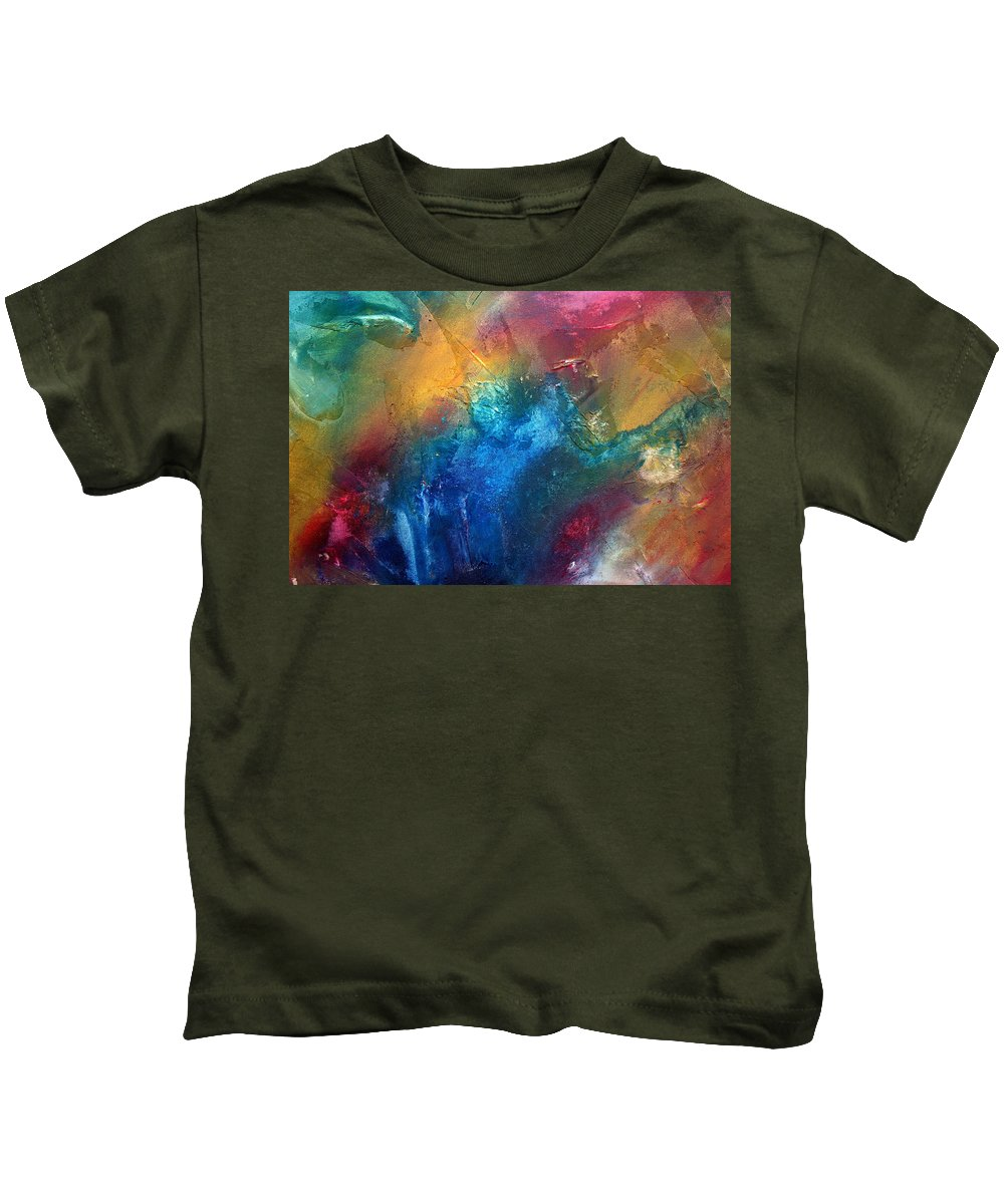 Wall Kids T-Shirt featuring the painting Rainbow Dreams II By Madart by Megan Duncanson