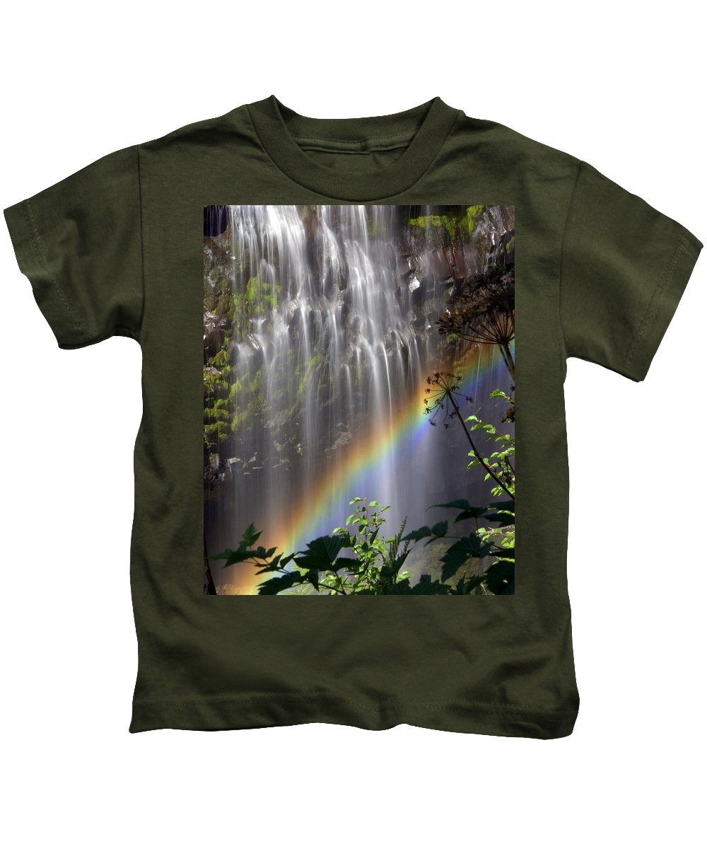 Waterfall Kids T-Shirt featuring the photograph Rainbow Falls by Marty Koch