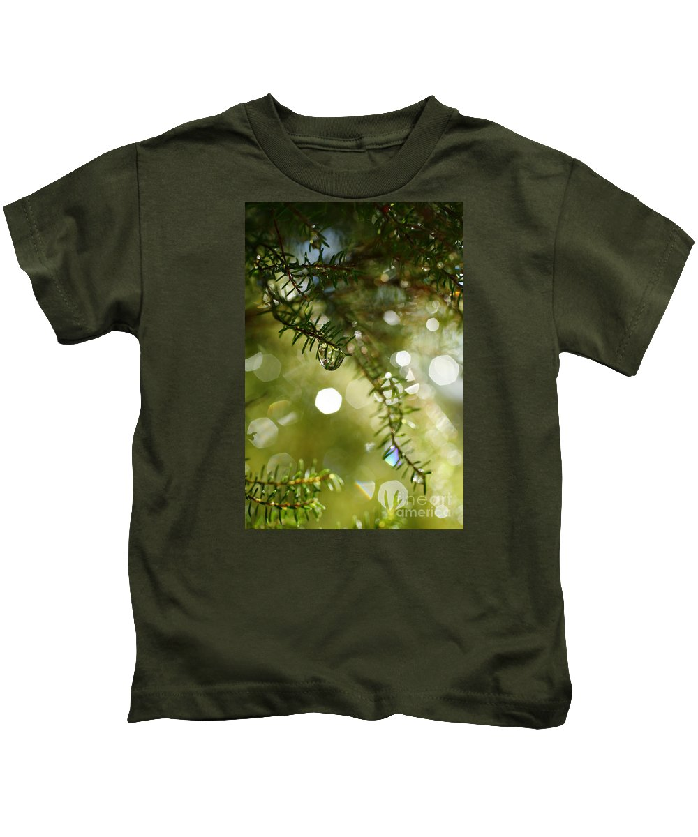 Dew Kids T-Shirt featuring the photograph Raindrops by Gaspar Avila