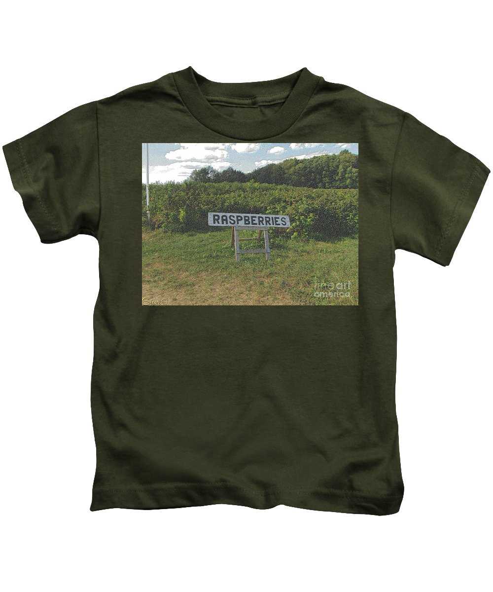 Country Kids T-Shirt featuring the photograph Raspberry Fields Three by September Stone