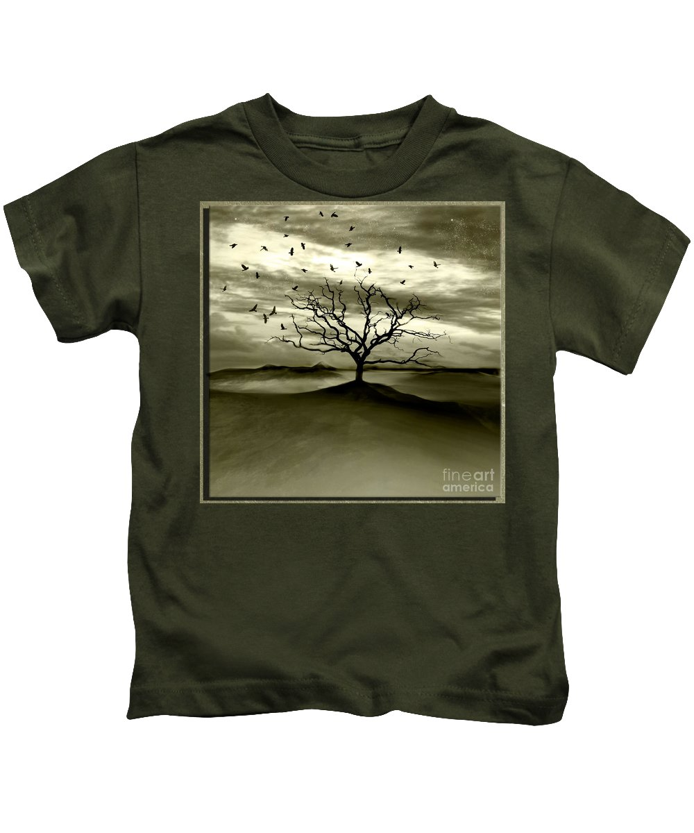 Landscape Kids T-Shirt featuring the photograph Raven Valley by Jacky Gerritsen