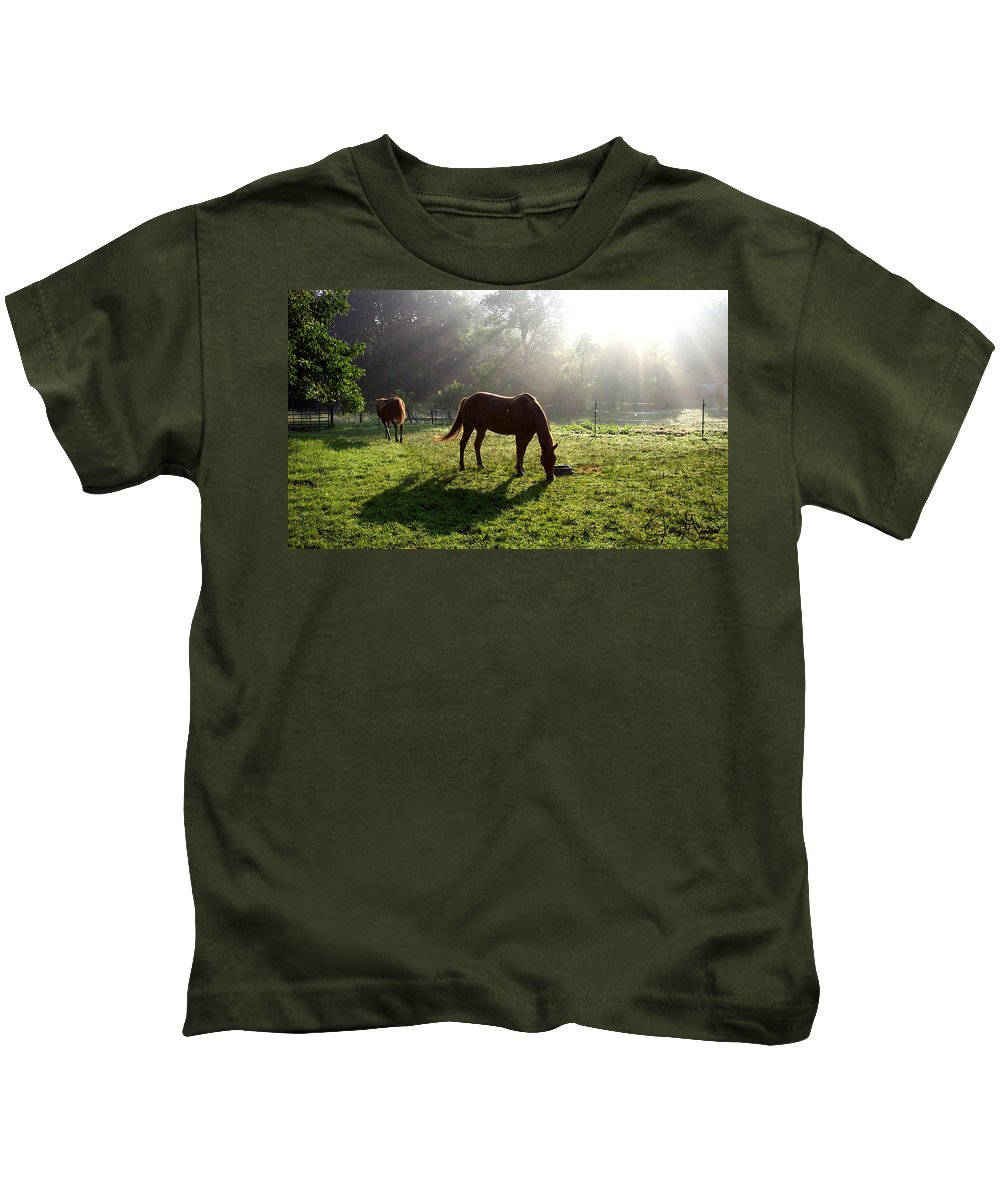Gandert Kids T-Shirt featuring the photograph Rays From Heaven by Jenny Gandert