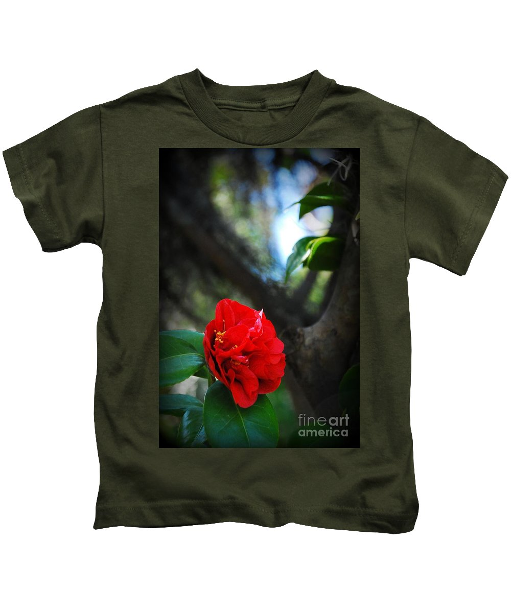 Botanical Kids T-Shirt featuring the photograph Reaching For The Light by Ashley O