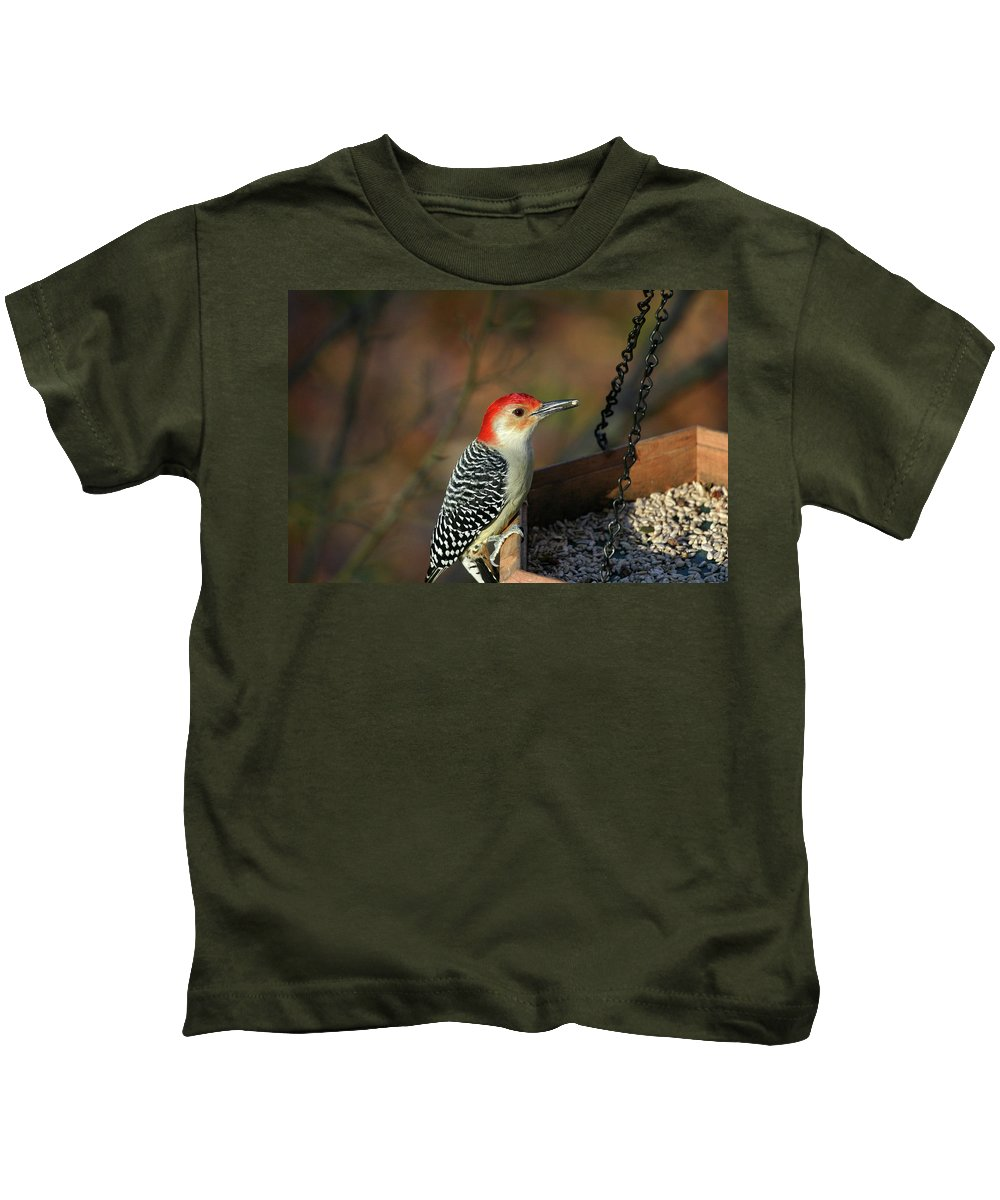Woodpecker Kids T-Shirt featuring the photograph Red-bellied Woodpecker by Karol Livote