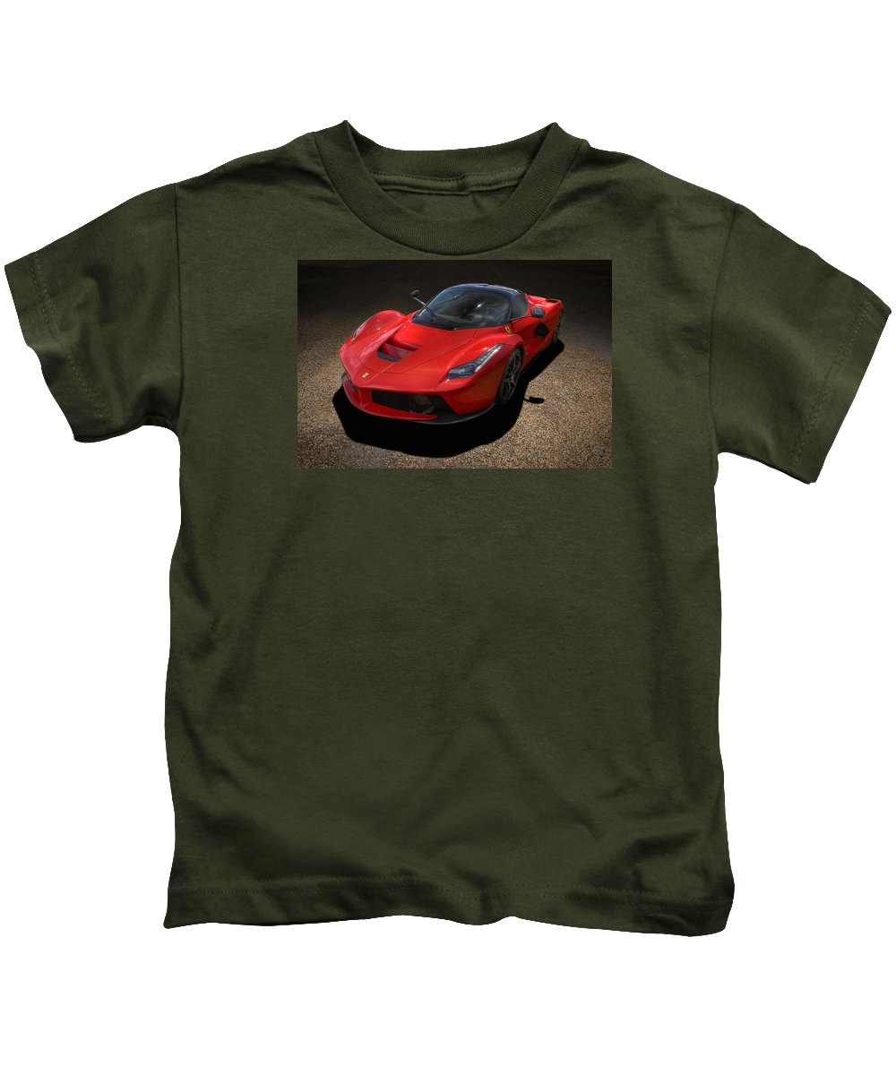 Automotive Kids T-Shirt featuring the photograph Red Devil by Andy Flood