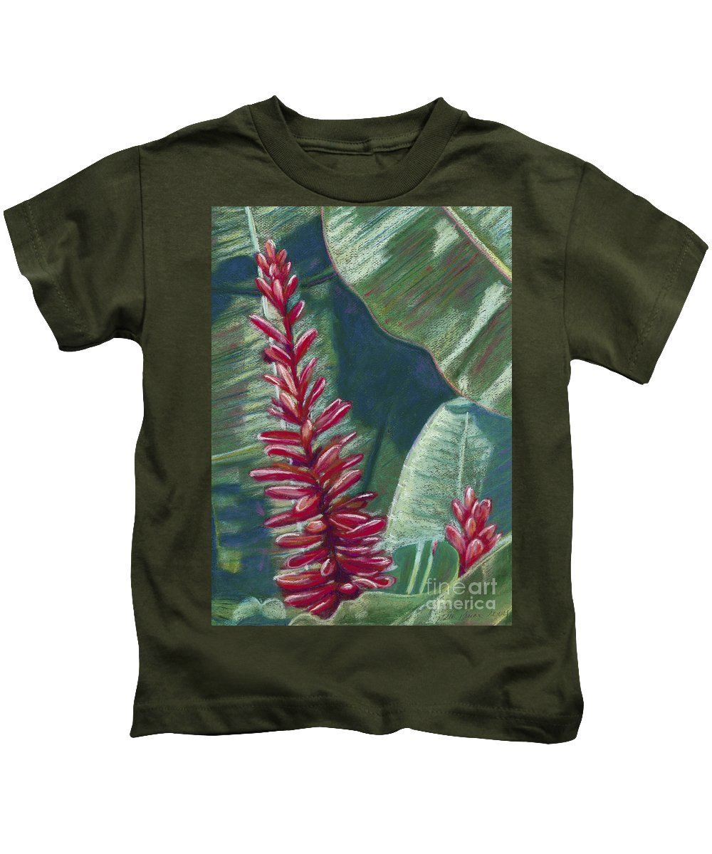 Among Kids T-Shirt featuring the painting Red Ginger by Patti Bruce - Printscapes