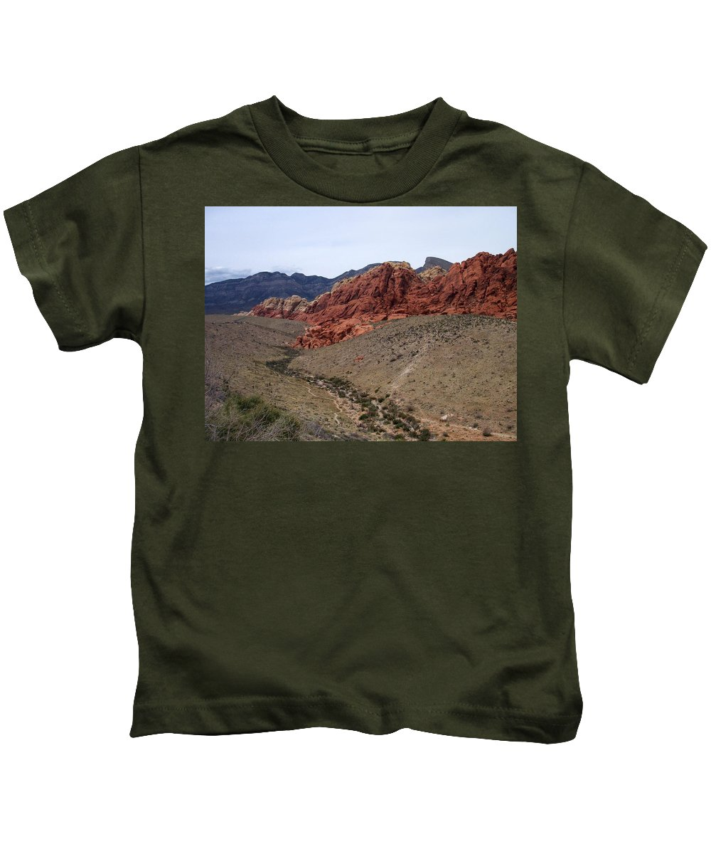 Red Rock Canyon Kids T-Shirt featuring the photograph Red Rock Canyon 1 by Anita Burgermeister