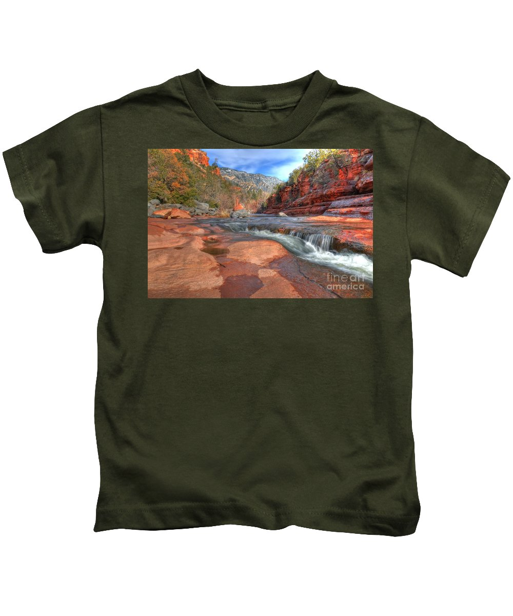 Red Rock Sedona Kids T-Shirt featuring the photograph Red Rock Sedona by Kelly Wade