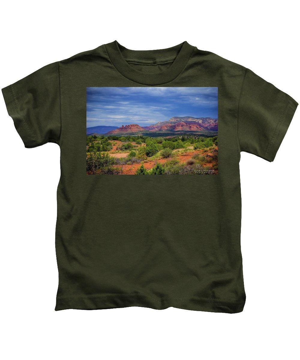 Sedona Kids T-Shirt featuring the photograph Red Rocks Of Sedona by Gordon McDaniel