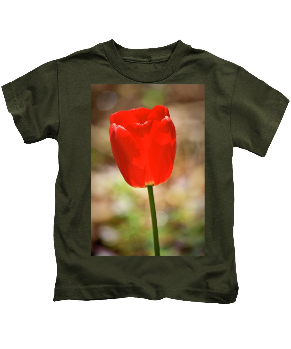 Tulip Kids T-Shirt featuring the photograph Red Tulip by Teresa Mucha