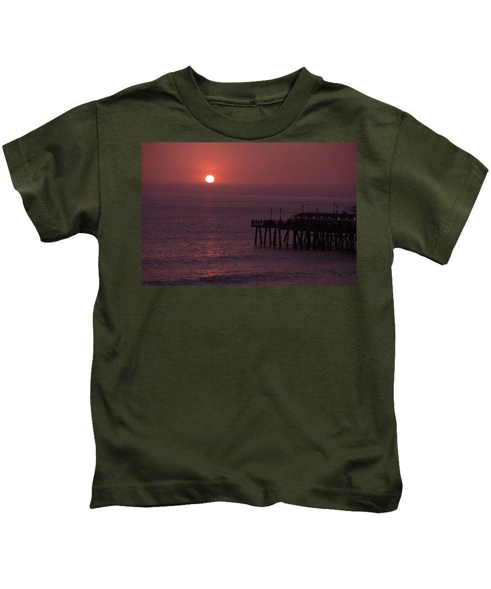 Redondo Beach Kids T-Shirt featuring the photograph Redondo Beach Pier by Mondo Hand
