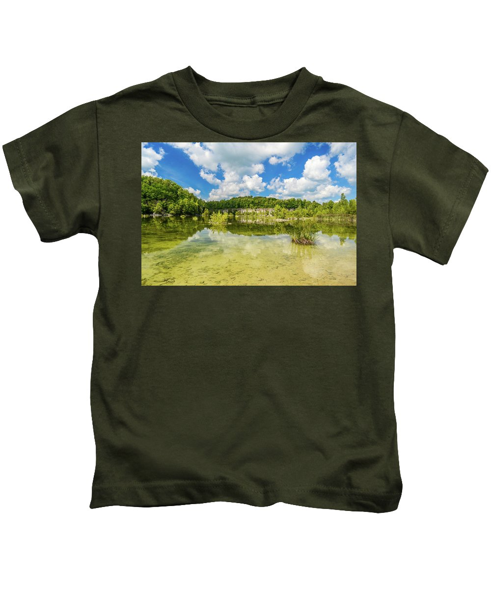 Depauw Kids T-Shirt featuring the photograph Reflecting Tranquility by Brent Tindall