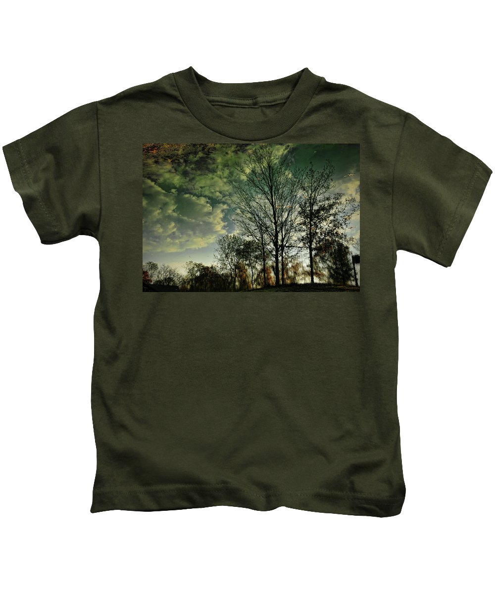 Trees Kids T-Shirt featuring the photograph Reflection by David Arment