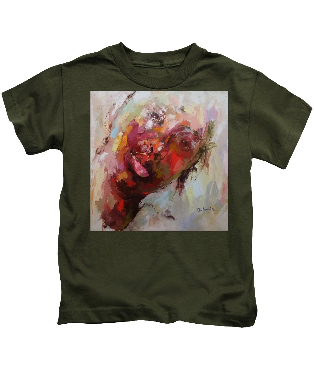 Kids T-Shirt featuring the painting Reflection I by Joseph Matthew