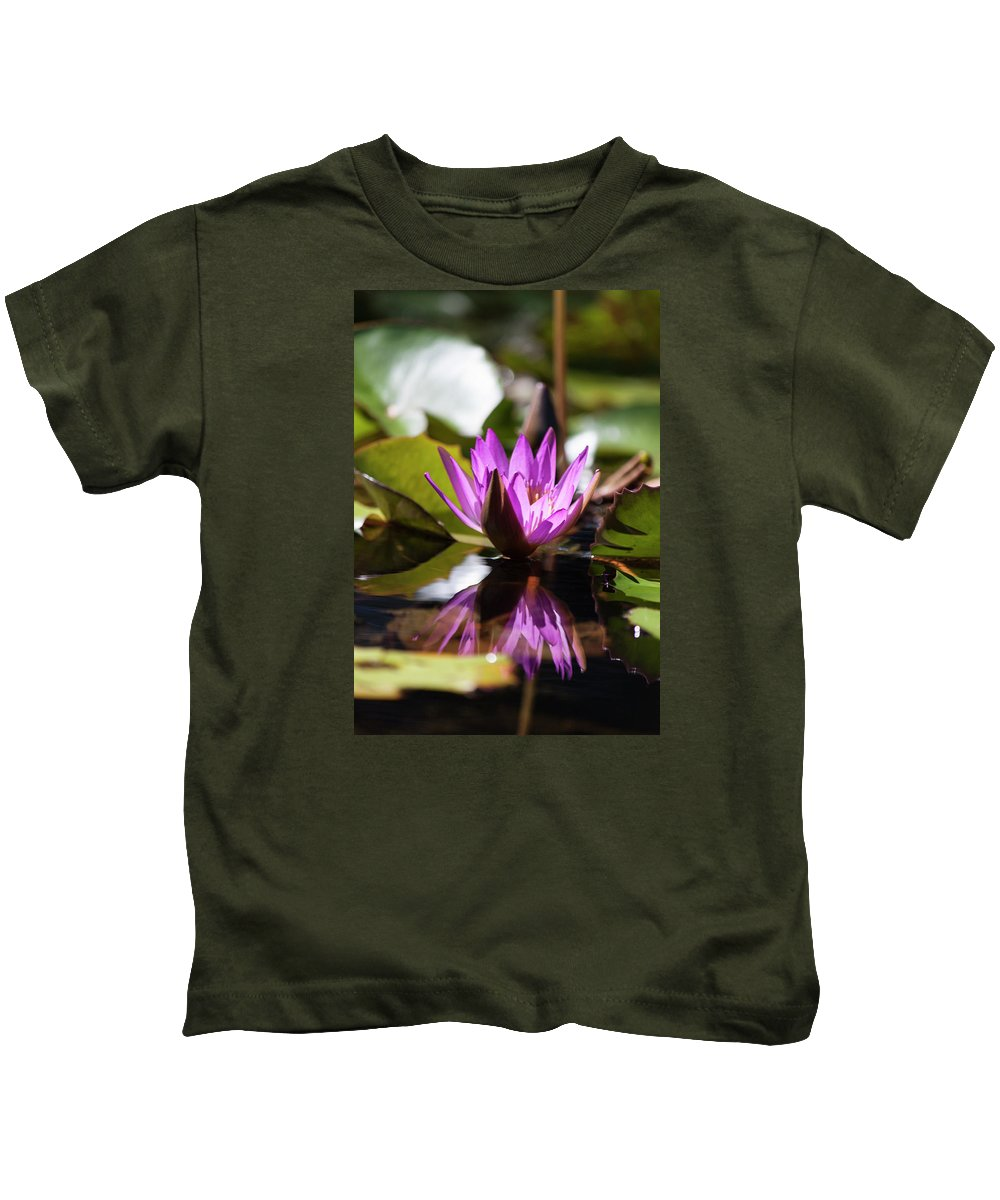 Photograph Kids T-Shirt featuring the photograph Reflection In Fuchsia by Suzanne Gaff