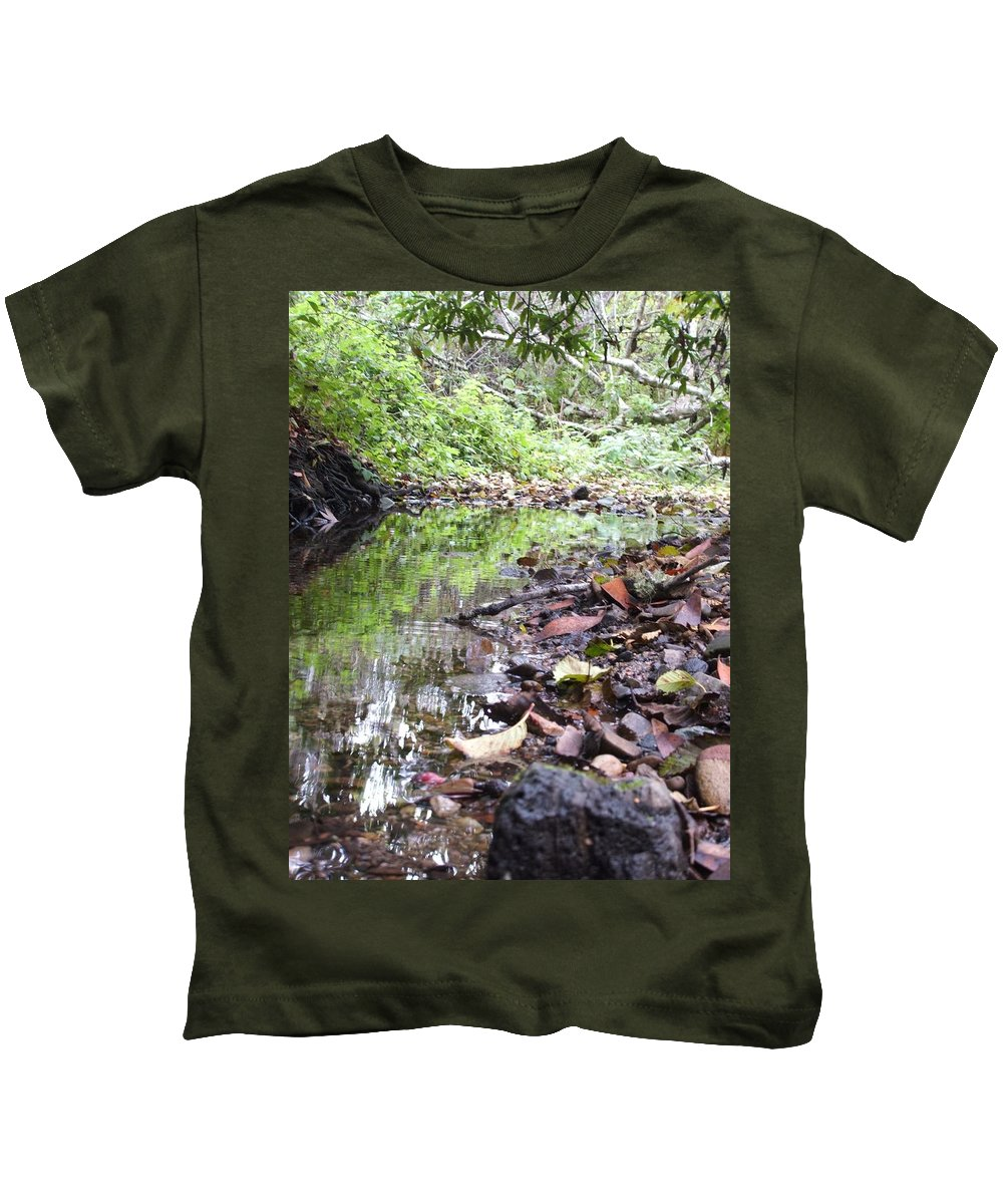 Woods Kids T-Shirt featuring the photograph Reflection by Shari Chavira