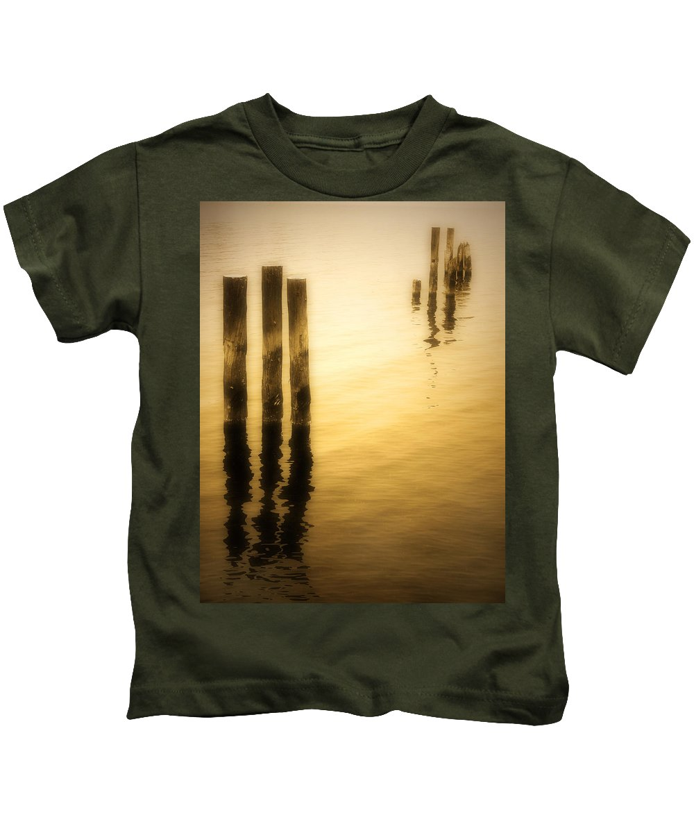 Reflections Kids T-Shirt featuring the photograph Reflections In Gold by Tara Turner