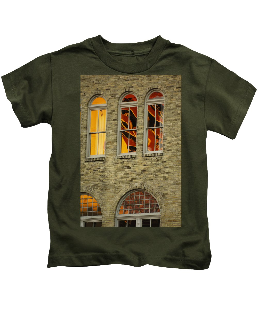 Urban Kids T-Shirt featuring the photograph Reflections by Jill Reger
