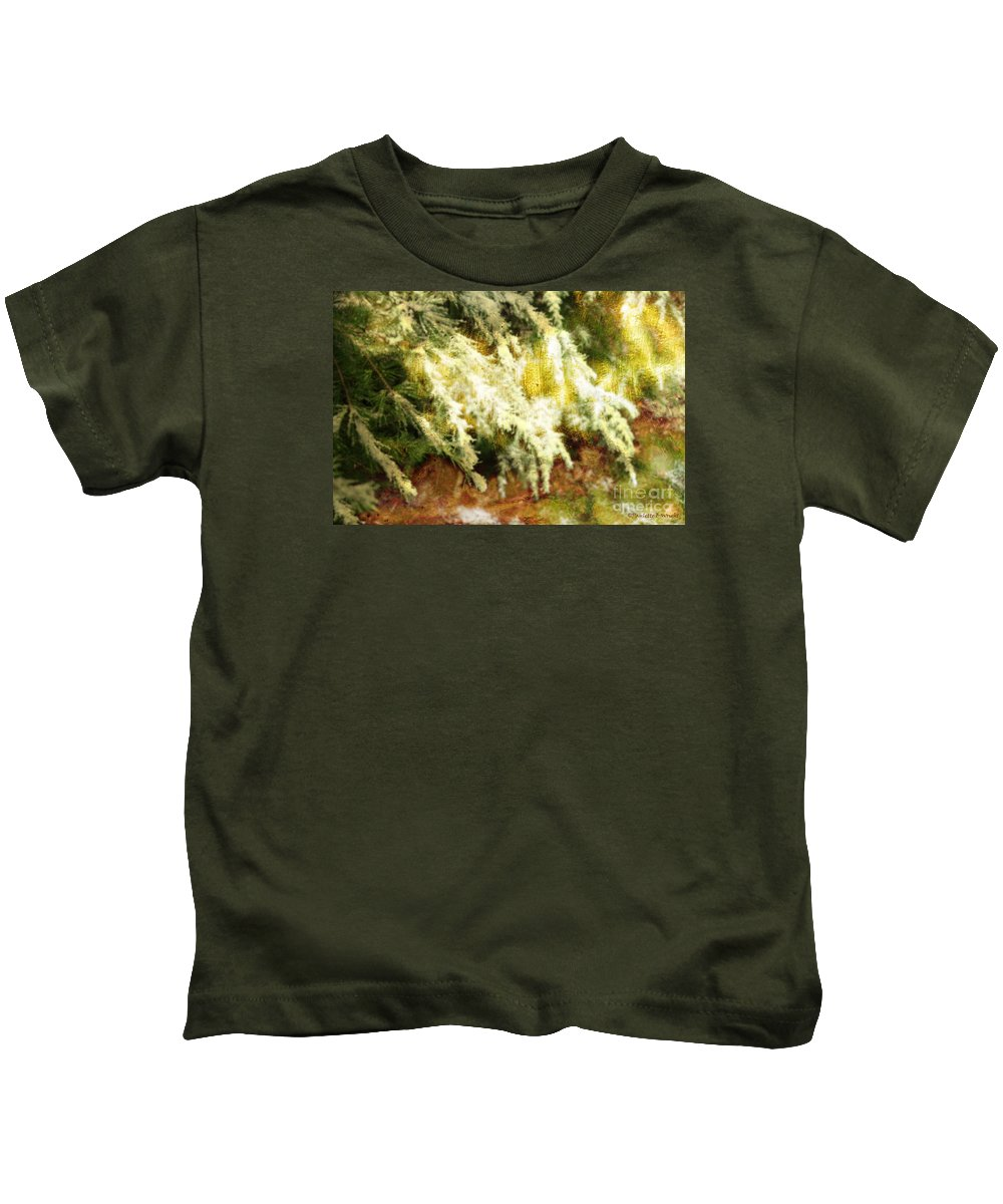 Wright Kids T-Shirt featuring the photograph Reflections Of A Snow by Paulette B Wright