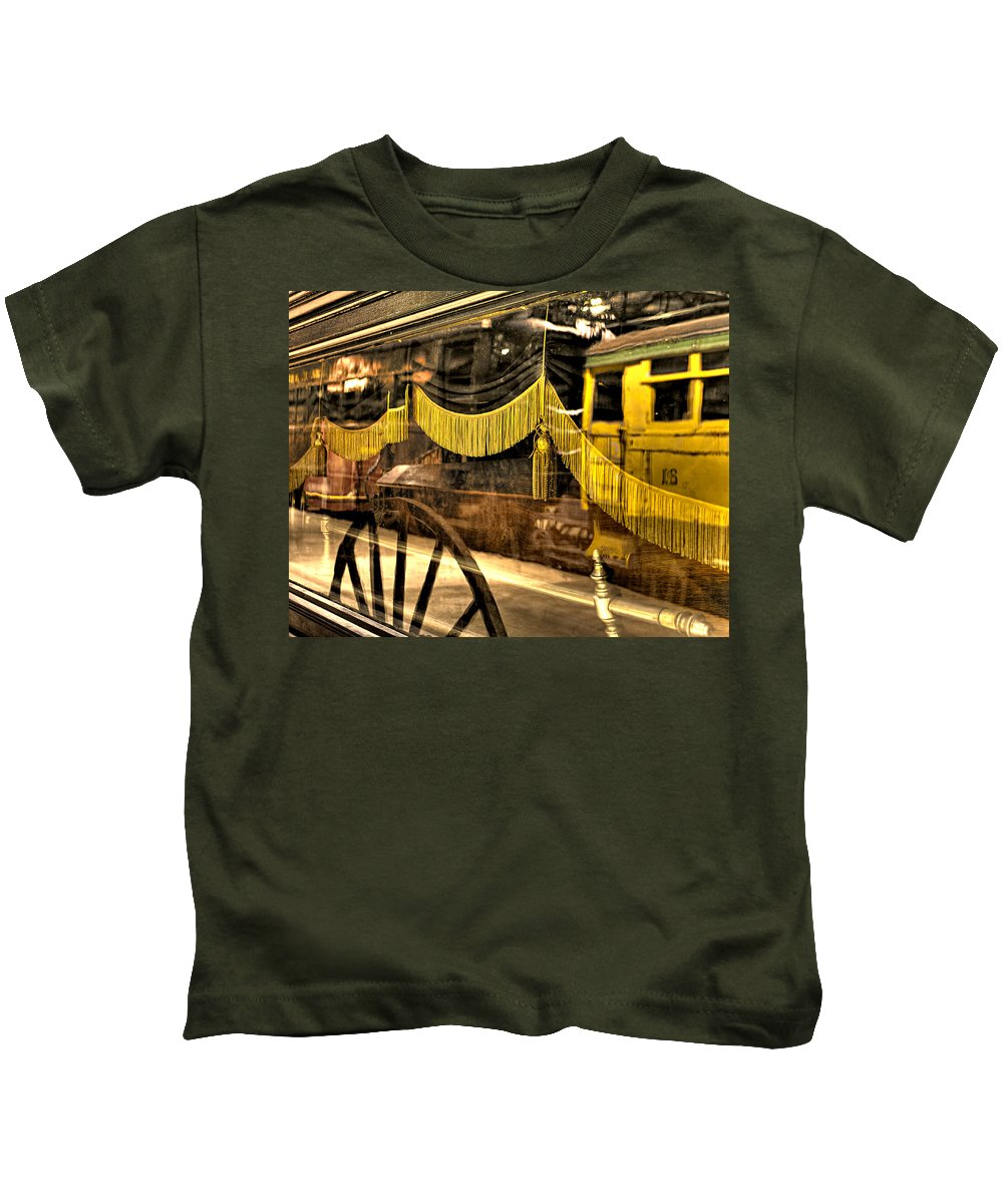 Train Kids T-Shirt featuring the photograph Reflections Of Death by Scott Wyatt