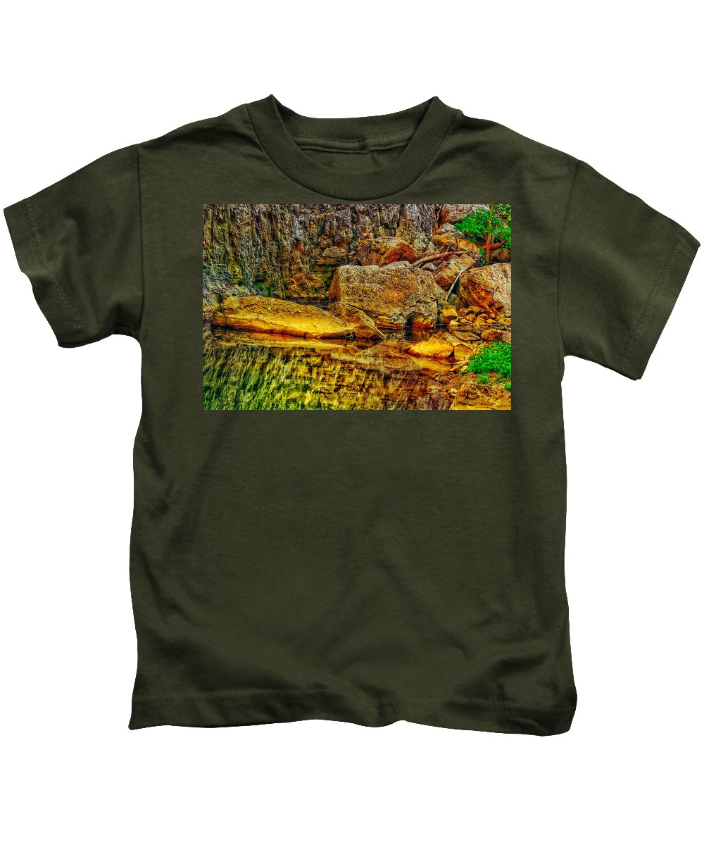 Virginia Kids T-Shirt featuring the photograph Reflections Of Rock by Anthony Rodrigues