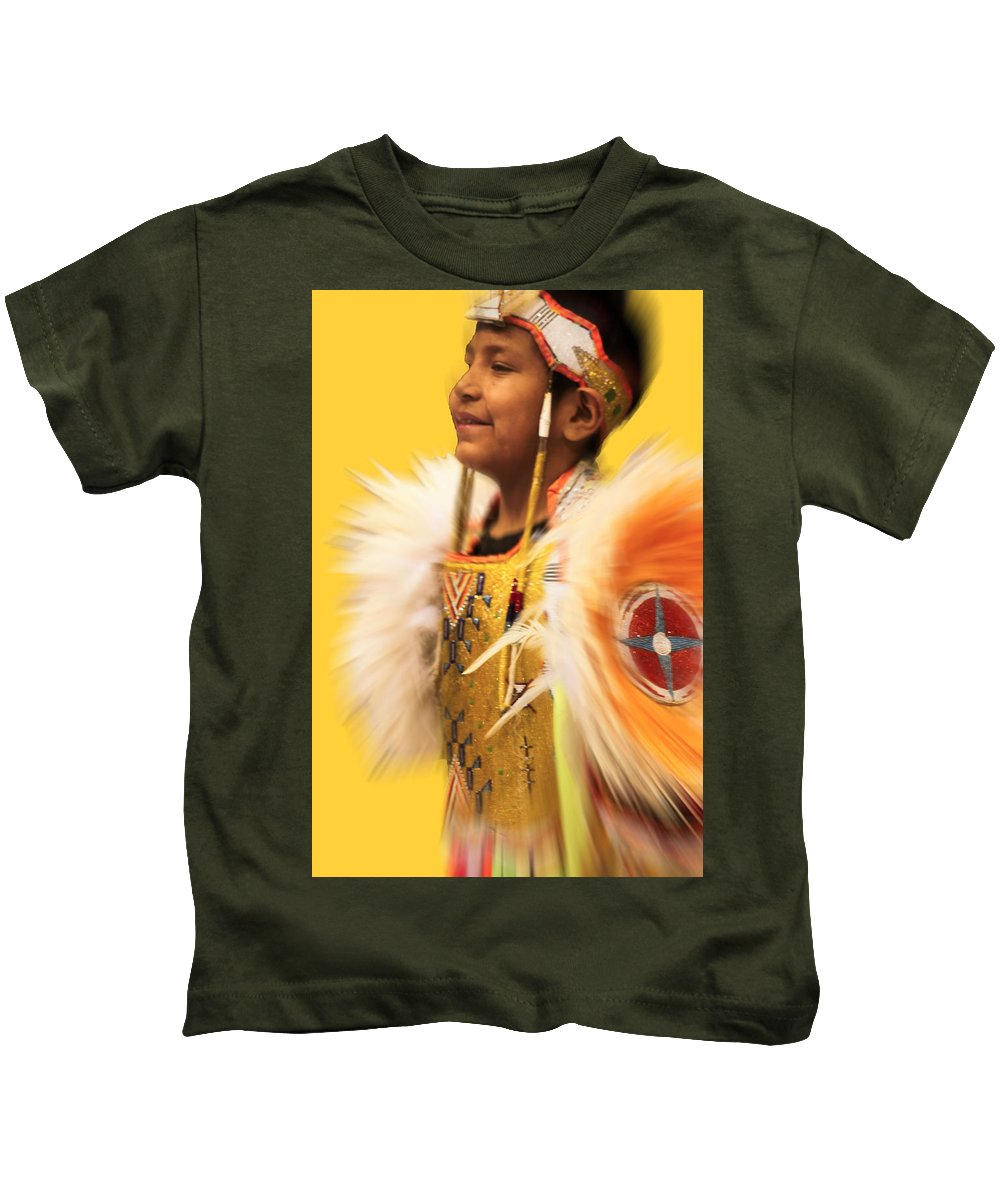 Native Americans Kids T-Shirt featuring the photograph Regal-2 by Audrey Robillard