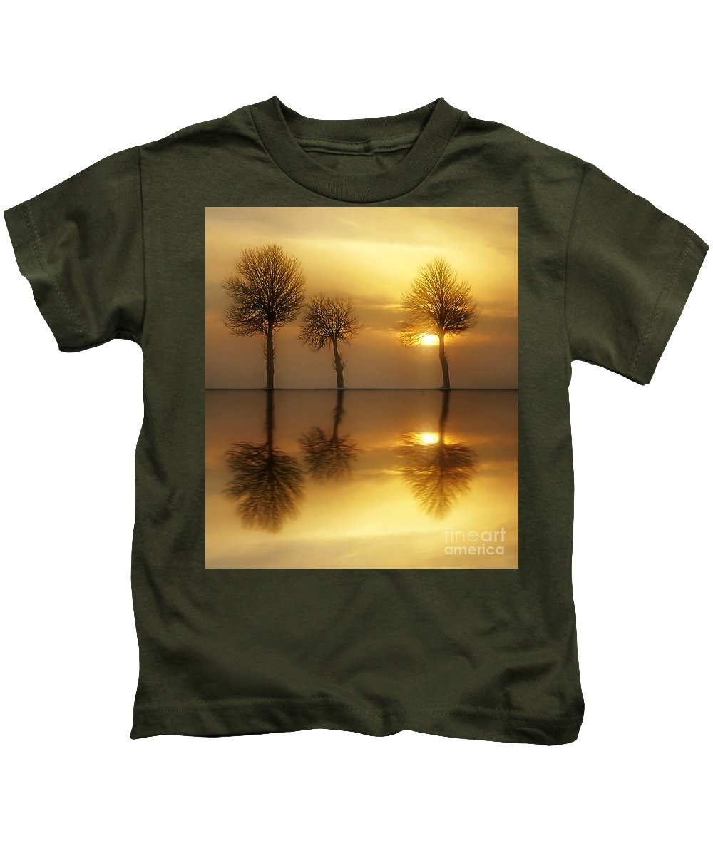 Sunset Kids T-Shirt featuring the photograph Remains Of The Day by Jacky Gerritsen