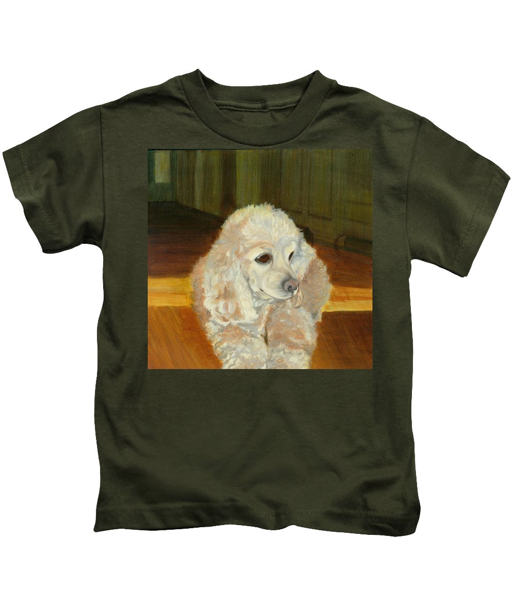 Animal Kids T-Shirt featuring the painting Remembering Morgan by Paula Emery