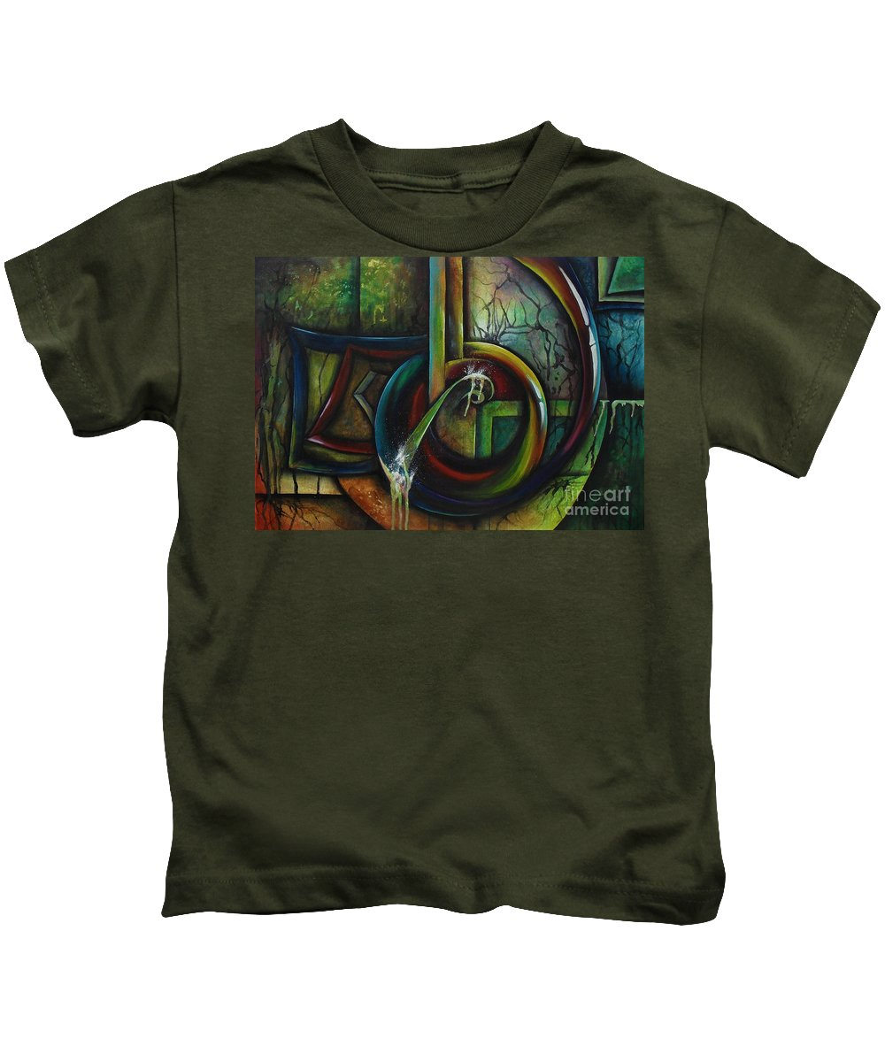 Resonance Kids T-Shirt featuring the painting Resonance by Lia Van Elffenbrinck
