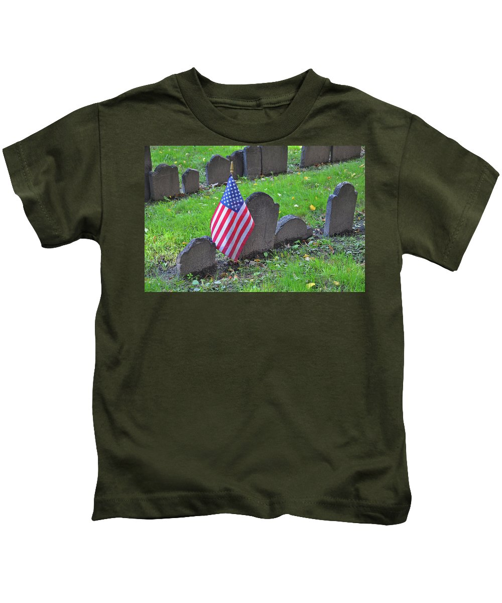 Cemetery Kids T-Shirt featuring the photograph Rest In Peace by Brittany Horton