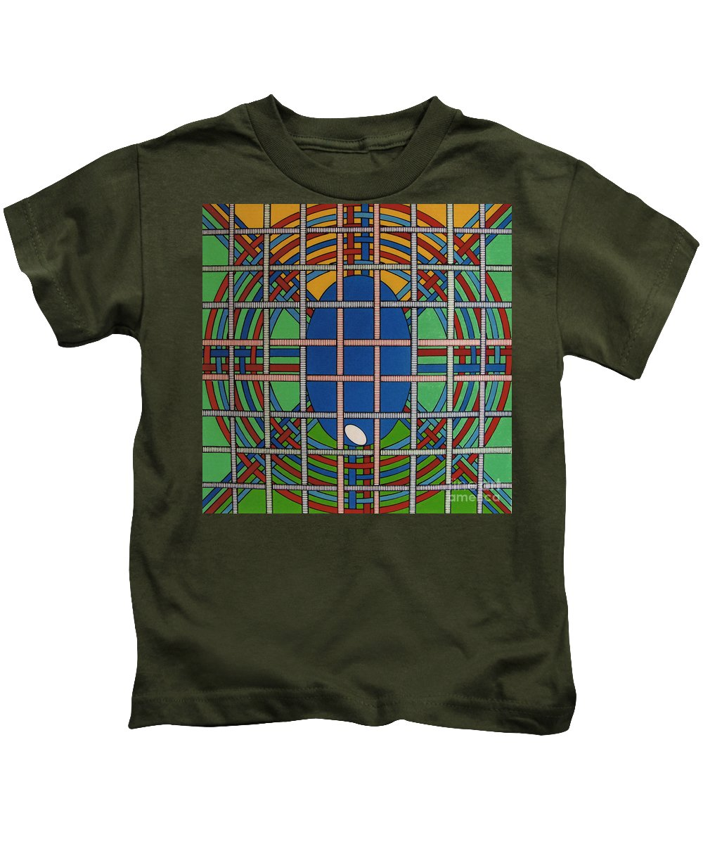 Balanced Weave Kids T-Shirt featuring the drawing Rfb0706 by Robert F Battles