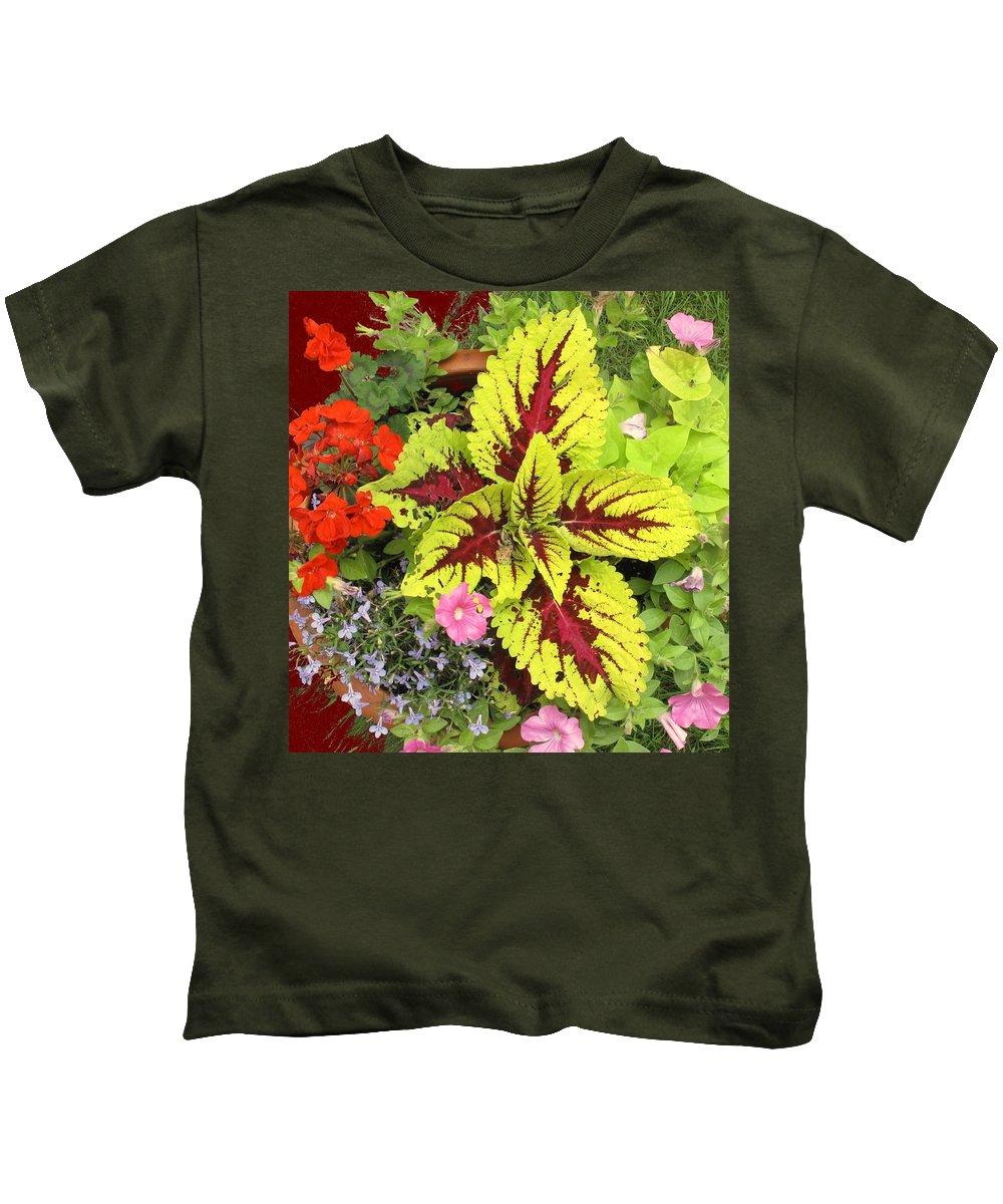 Flowers Kids T-Shirt featuring the photograph Rich Pattern by Ian MacDonald