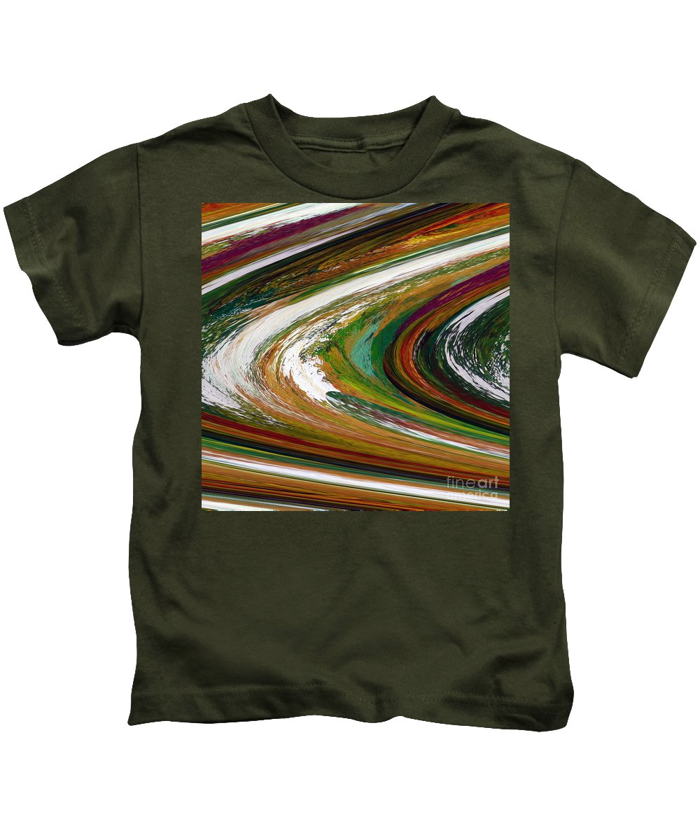 Original Abstract Painting...for Originals...www.dawnsebaugh.com Kids T-Shirt featuring the painting Rings Of Saturn by Dawn Hough Sebaugh