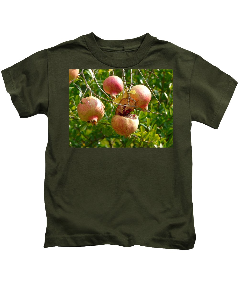 Ripe Kids T-Shirt featuring the photograph Ripe Pomegranates by Valerie Ornstein