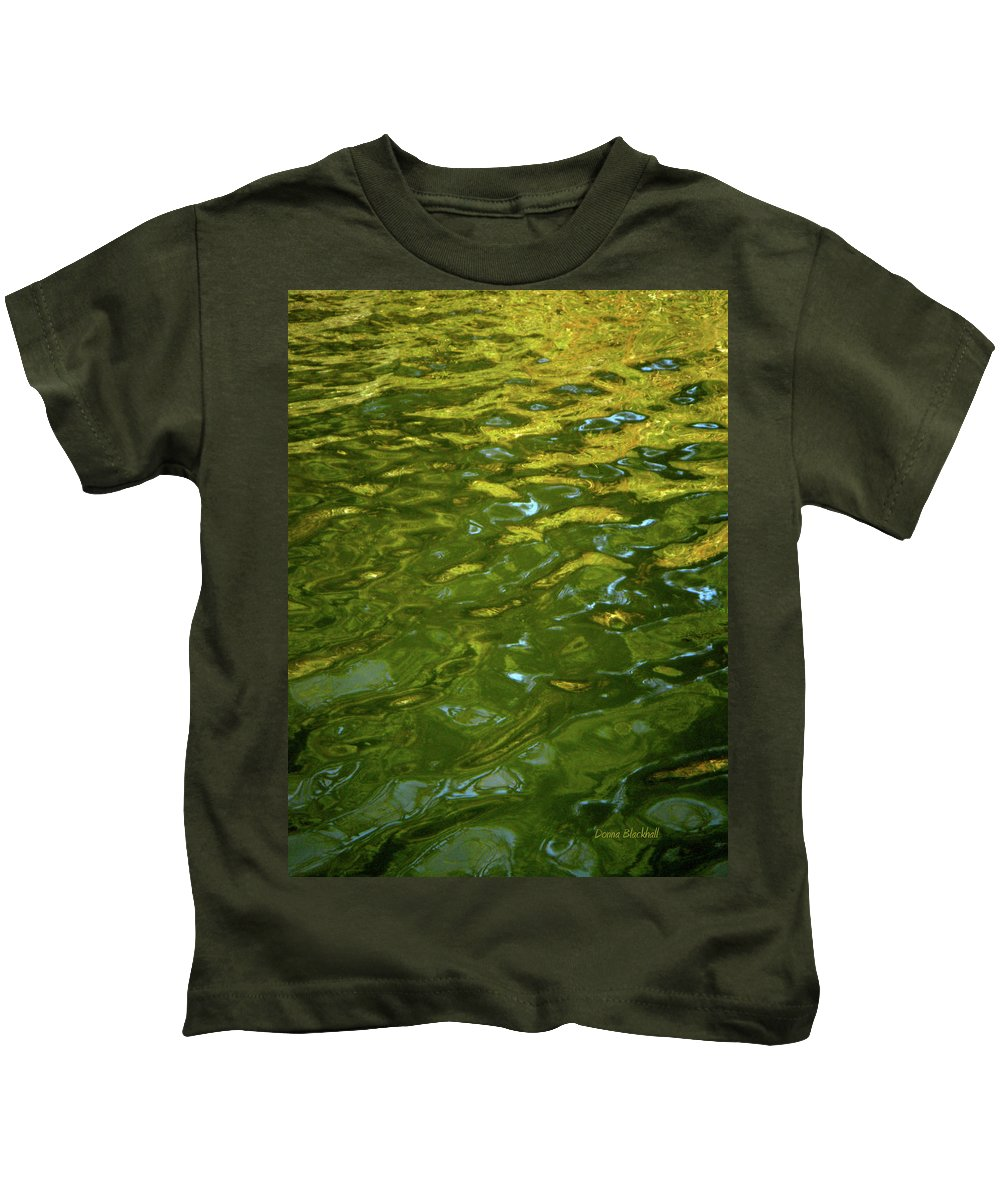 Water Kids T-Shirt featuring the photograph Rising Sun by Donna Blackhall