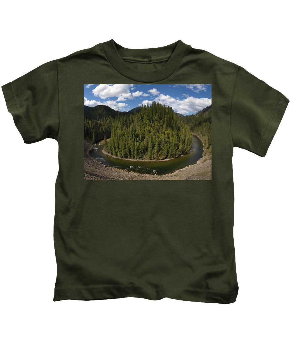 River Bend Kids T-Shirt featuring the photograph River Bend by Leland D Howard