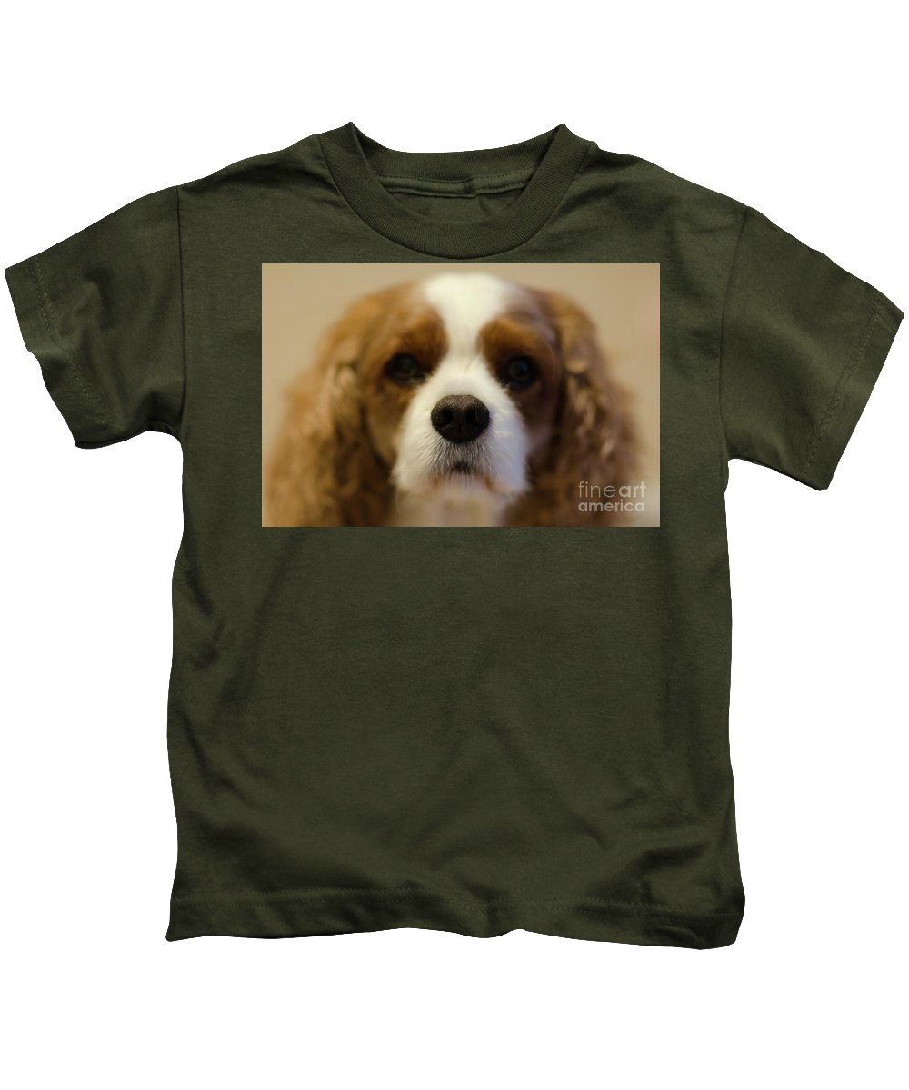 Rivers Kids T-Shirt featuring the photograph River Dog Closeup by Dale Powell