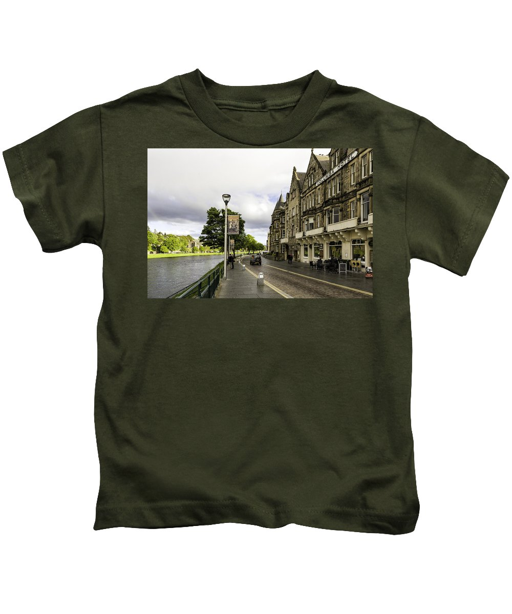River Kids T-Shirt featuring the photograph River Ness by Fran Gallogly