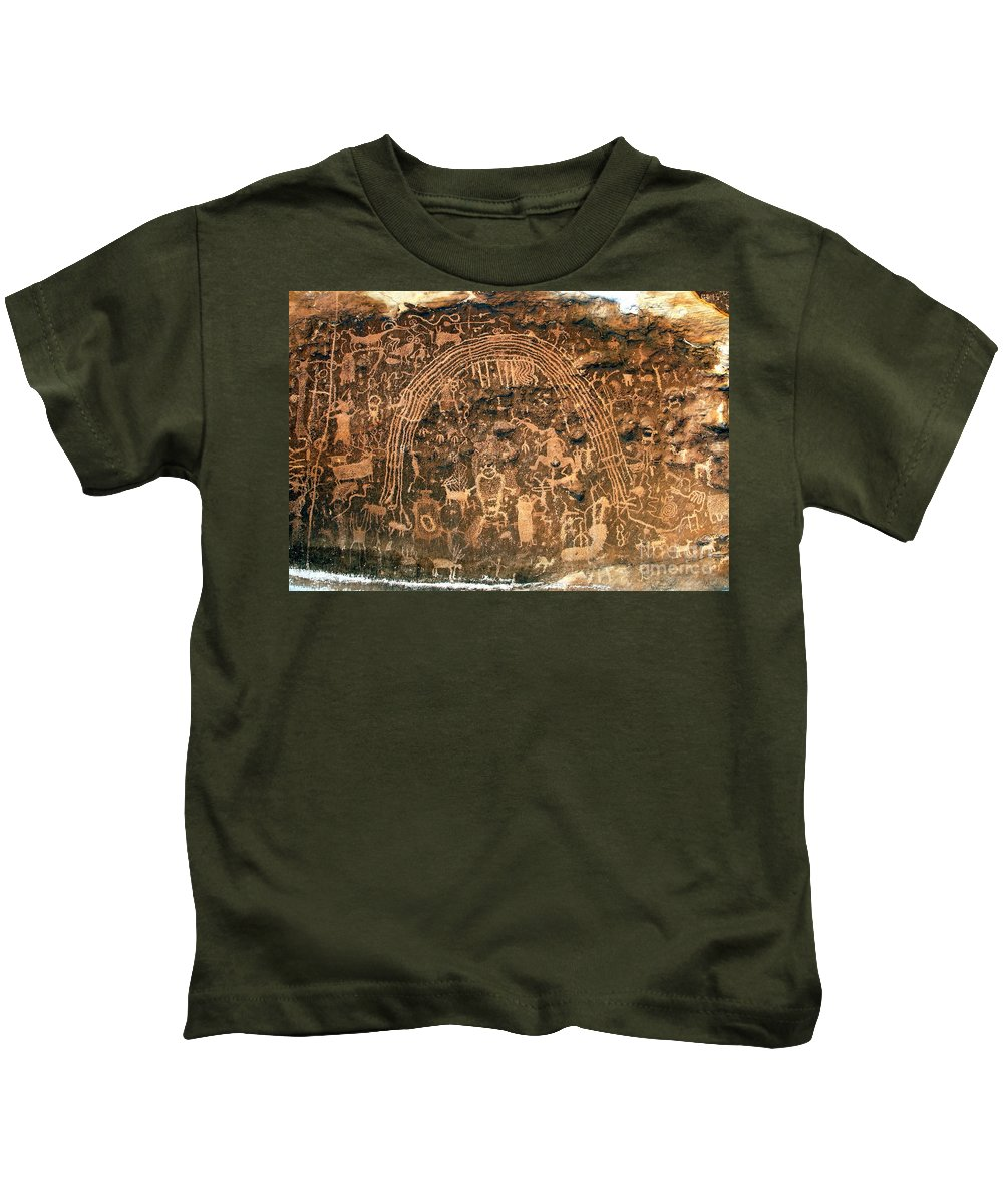 Petroglyphs Kids T-Shirt featuring the photograph River Of Dreams by David Lee Thompson