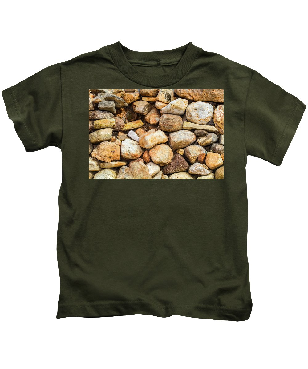 Rio Grande Kids T-Shirt featuring the photograph River Stones by SR Green