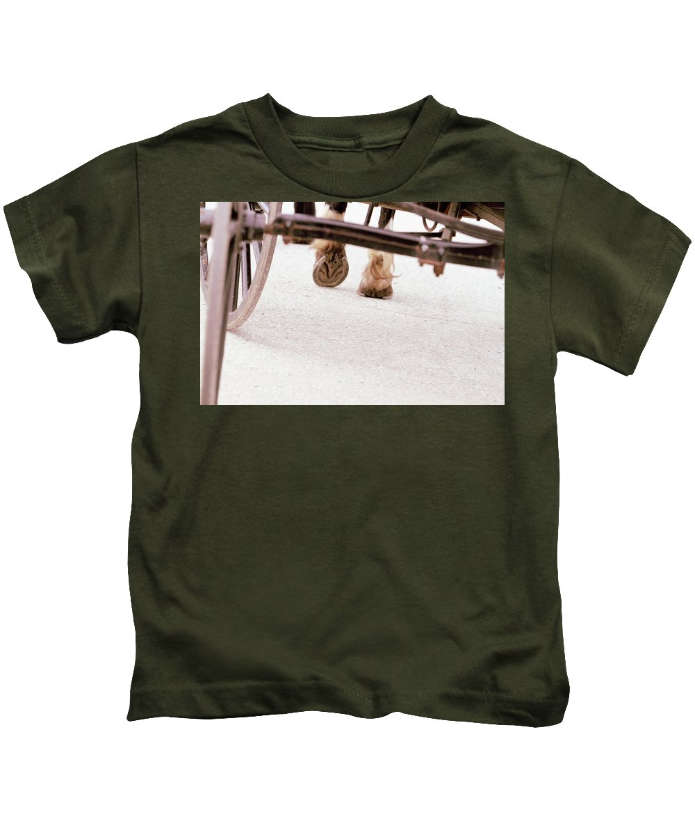 Horse Kids T-Shirt featuring the photograph Road Not Taken by Susie Gordon