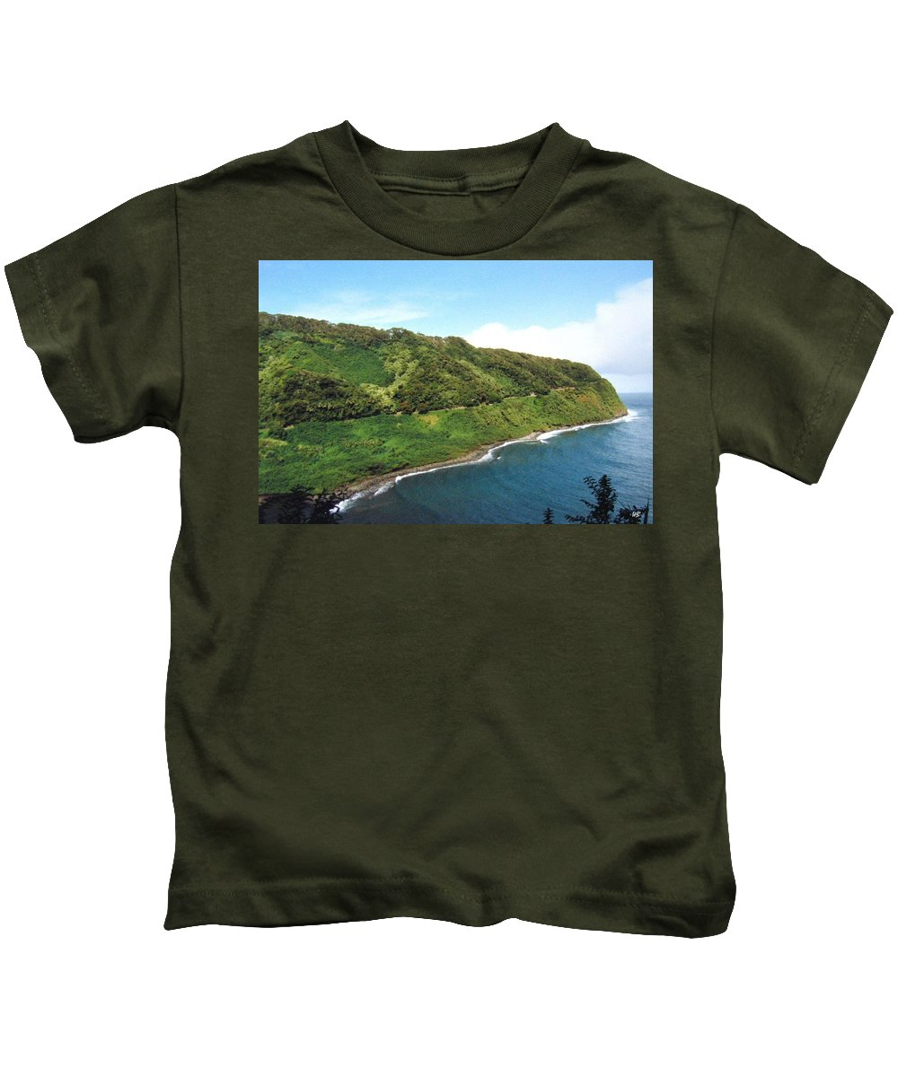 1986 Kids T-Shirt featuring the photograph Road To Hana by Will Borden